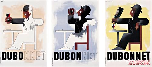 A. M. Cassandre's classic 1932 tryptich for Dubonnet