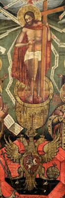 Икона «Литургия Господня», фрагмент.