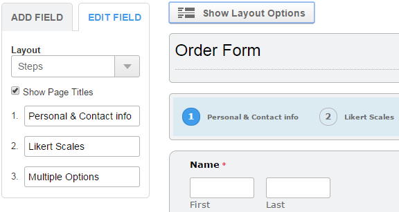 Multi-Page Form