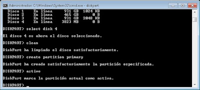 Método manual para meter Windows 7 en un pendrive