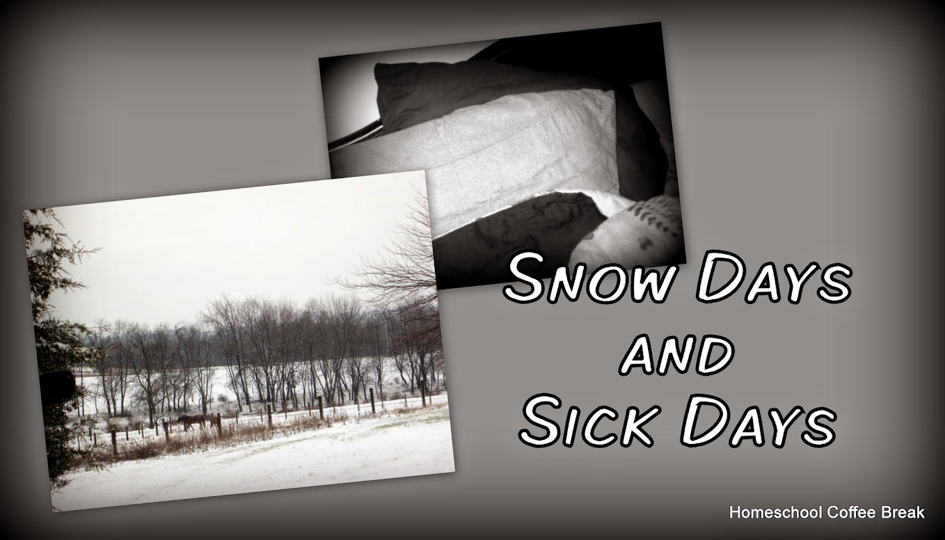 Homeschool Weekly: Snow Days and Sick Days @ kympossibleblog.blogspot.com