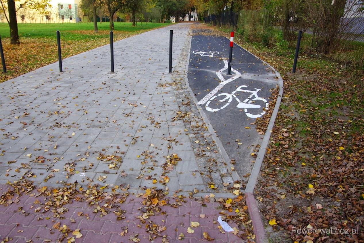 Początek nowego odcinka drogi dla rowerów