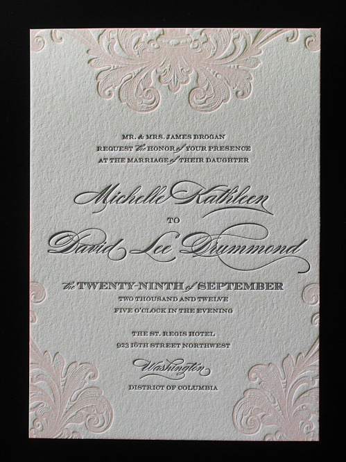 by - Letterpress Wedding Invitations