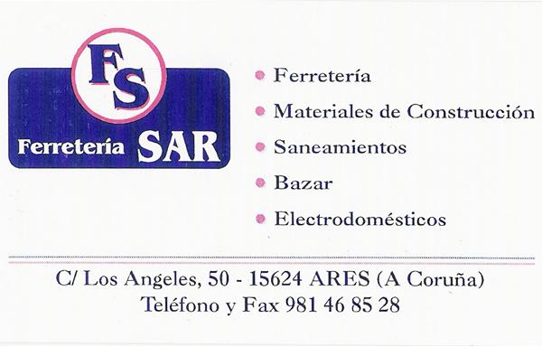 Ferreteria Sar, colaborador coa A.D.R. Numancia de Ares.