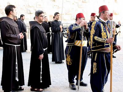Good Friday procession in Jerusalem Israel