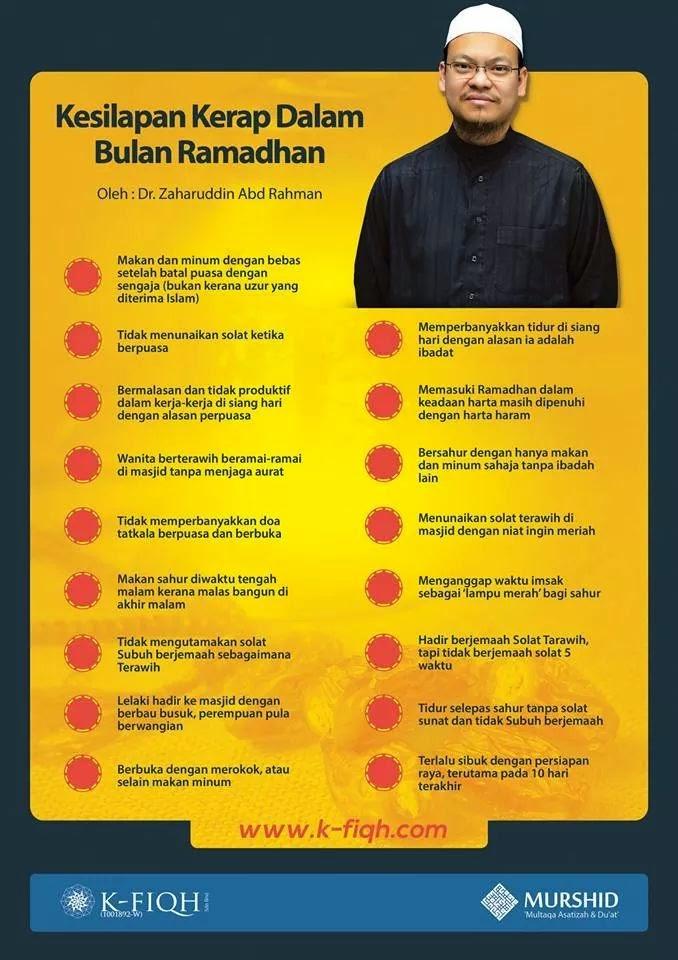 Kesilapan kerap di bulan Ramadan.