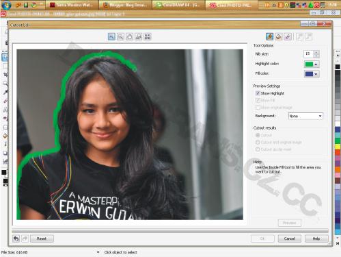 Cara 2 Memisahkan Memotong Background Gambar Di Corel Draw Dasar Photoshop Corel Draw