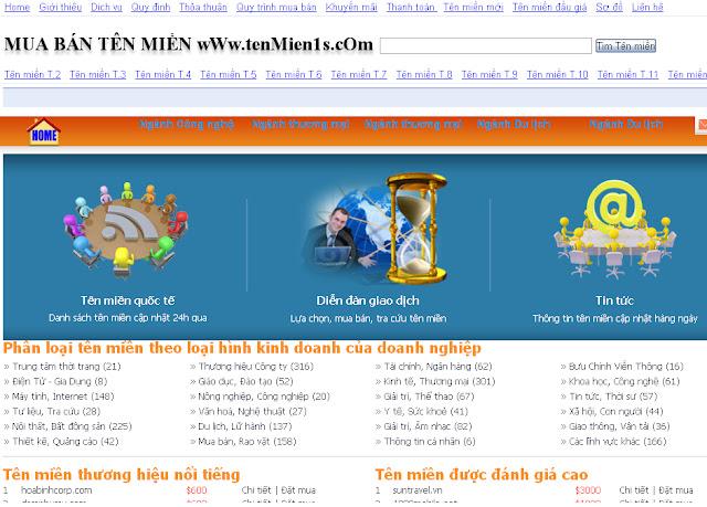 Dự án thiết kế website Bán hàng trực tuyến 01