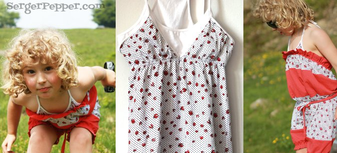 Serger Pepper - Guest Post on Brassy Apple - Refashion Tutorial - Bubble Romper - final shoots