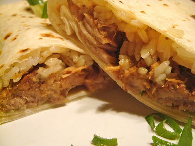 Five-spice pork wraps
