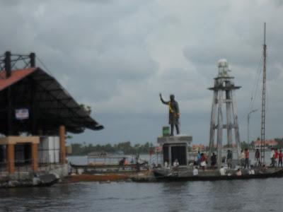 a new nehru statue at nehru trophy boat race location photos