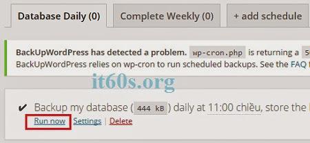 Cách sao lưu trang web tự động đơn giản trên Wordpress 5