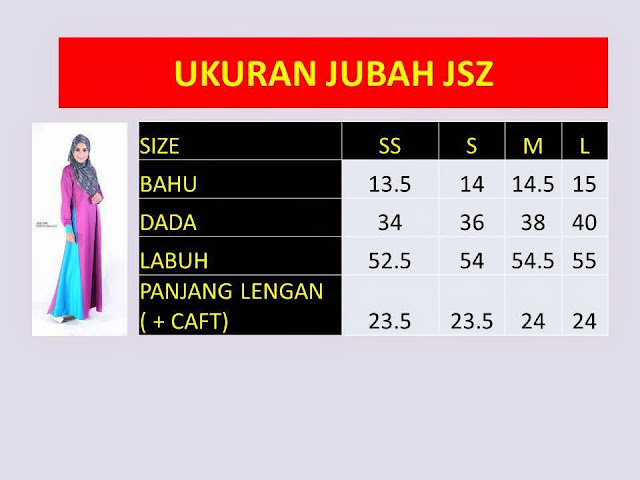 Ukuran saiz jubah nursing friendly (breast feeding friendly) lavenzy cotton online murah