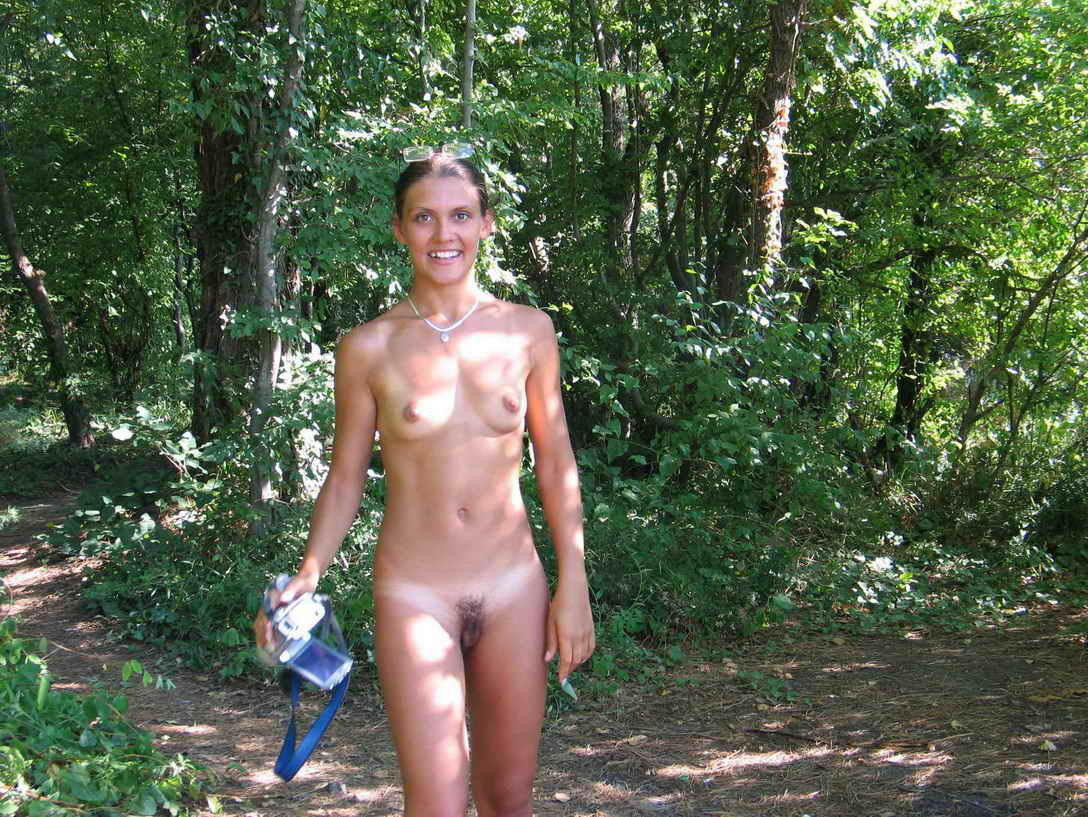 Hippy girls naked in public