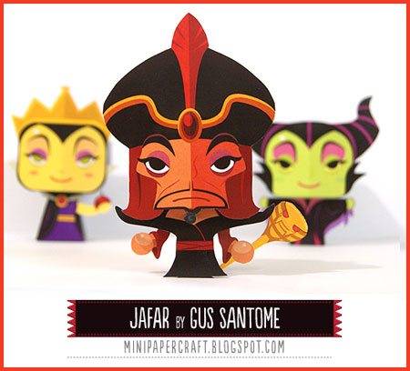 Mini Jafar Paper Toy