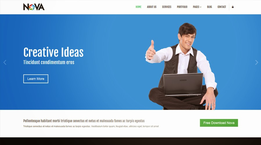 Free Bootstrap Themes Nova Templates