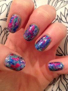 Nails wearing the Ciate Colourfoil kit