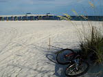 the next day I ride my bike to orange beach