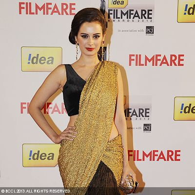 Amy Jackson looked drop-dead gorgeous during the 58th Idea Filmfare Awards 2013, held at Yash Raj Films Studios in Mumbai.Click here for:<br />  58th Idea Filmfare Awards