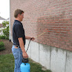 Siloxane brick water repellents are used on exterior surfaces