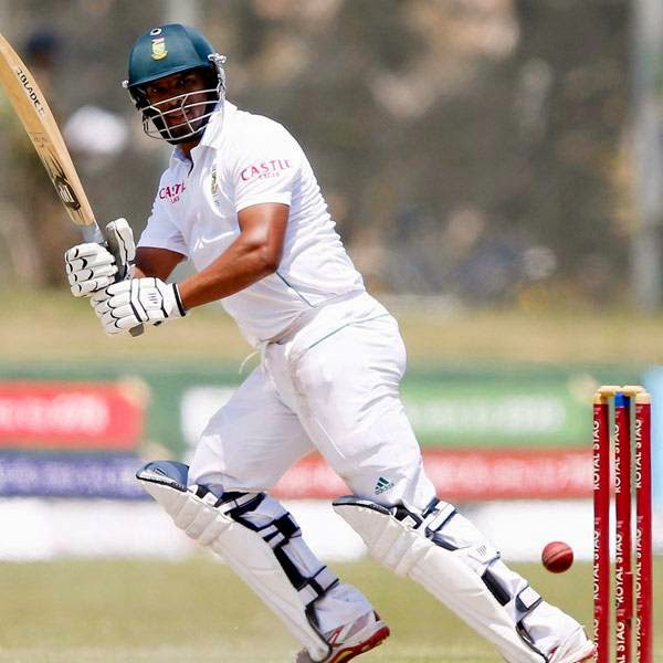 South Africa's Vernon Philander plays a shot during the second day of their first test cricket match against Sri Lanka in Galle July 17, 2014.