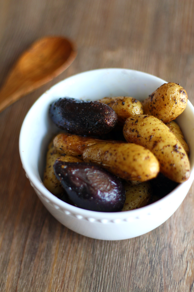 "Roasted ""Buttery"" Fingerling Potatoes from dontmissdairy.com"