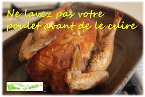 ne pas laver le poulet cru avant de le cuire