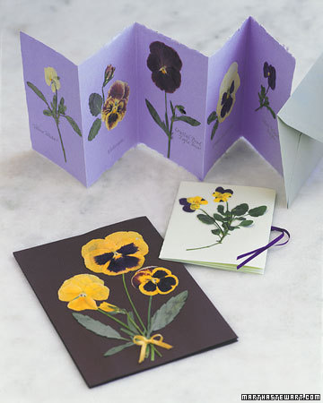 Pressed pansies make quite the impression.