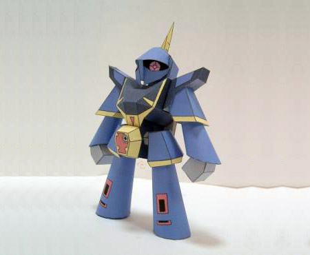 SD Bazam Papercraft Mecha