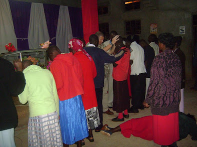 Ministering to the people on Saturday night