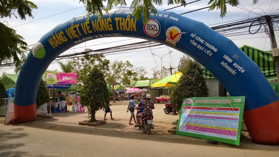 Đèn sạc Honjianda - Hàng Việt Về Nông Thôn 2015 - Tỉnh Bạc Liêu