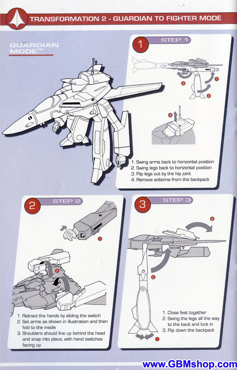 The Masterpiece Collection YF-1R Transformation Manual Guide