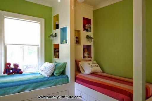 Các mẫu giường góc đẹp cho phòng ngủ nhỏ-7