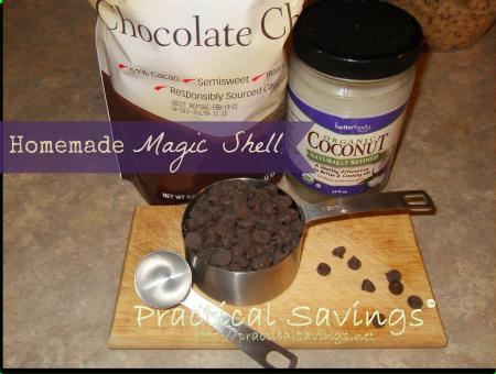 Homemade Magic Shell #chocolate #peanutbutter #flavorsofsummer