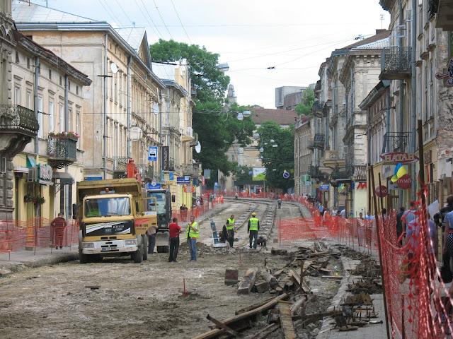 Remonty w Lwowie na Euro 2012