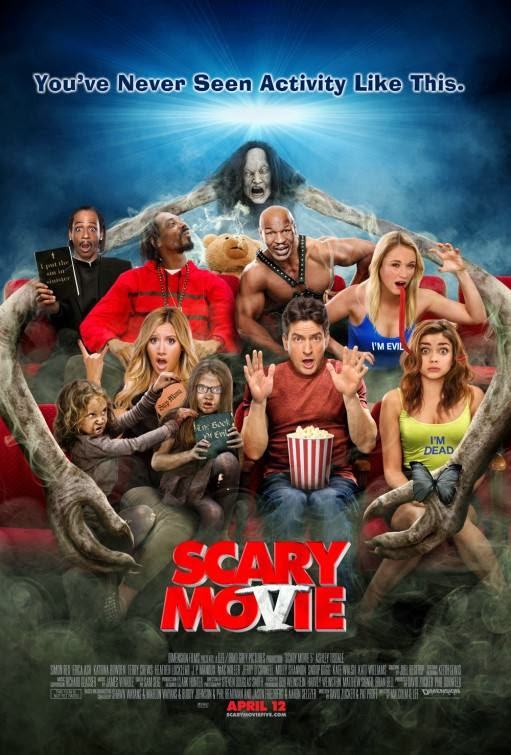 Poster Of English Movie Scary MoVie (2013) Free Download Full New Hollywood Movie Watch Online At Alldownloads4u.Com