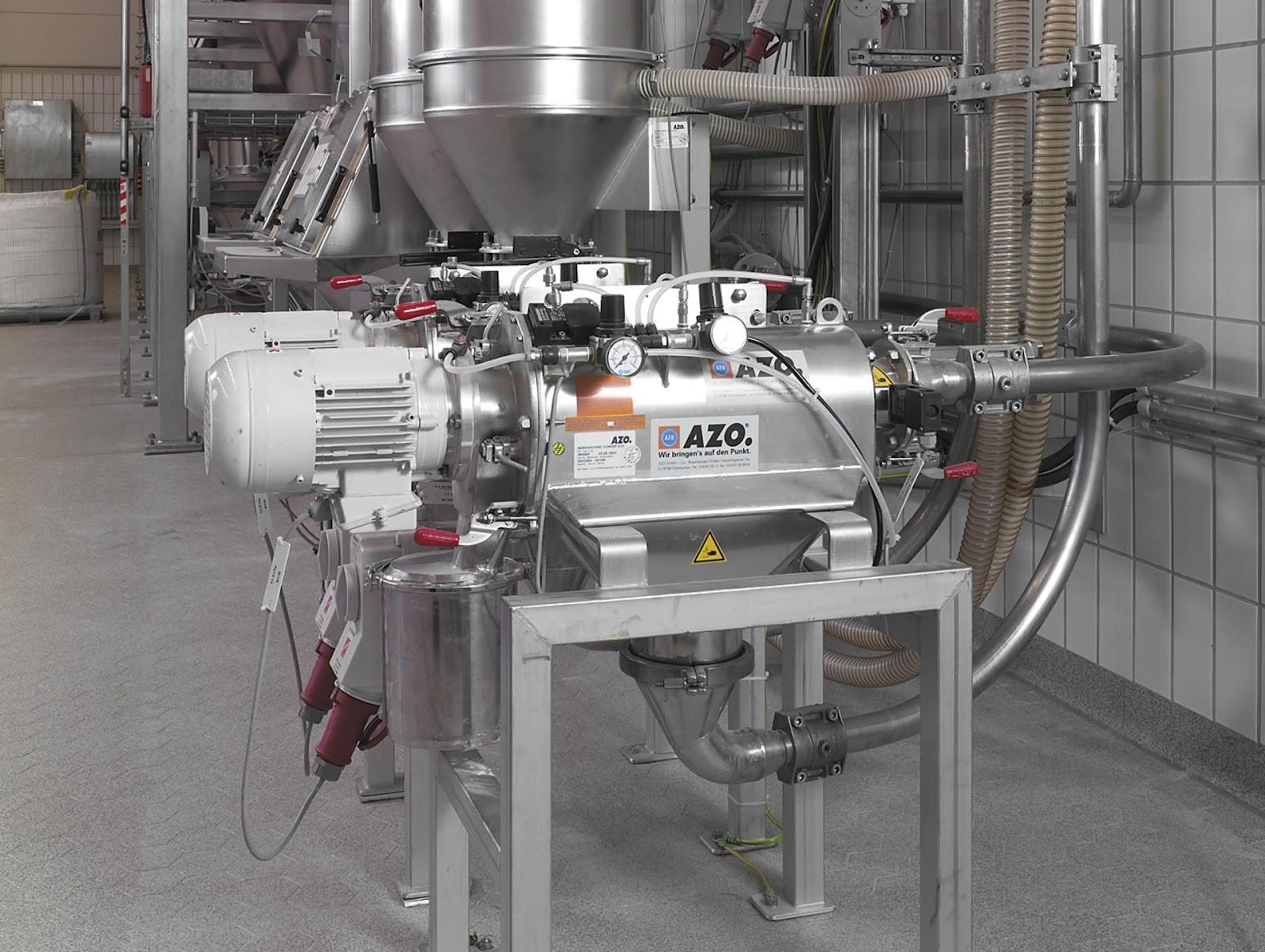 azo inline cyclone screener pneumatic convey system