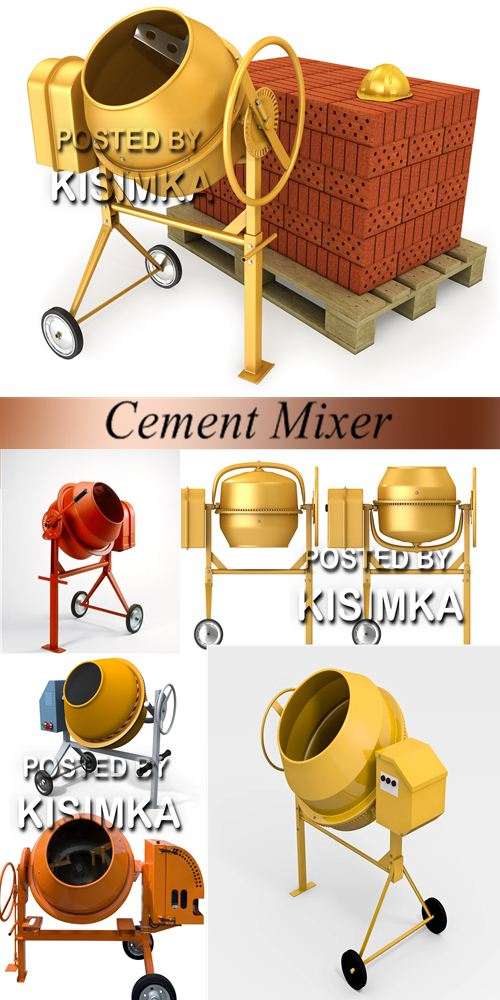 Stock Photo: Cement Mixer