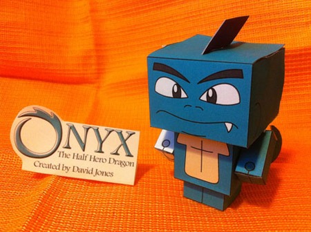 Onyx the Half Hero Dragon Papercraft