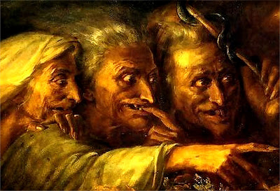 Detail from The Three Witches by Alexandre-Marie Colin