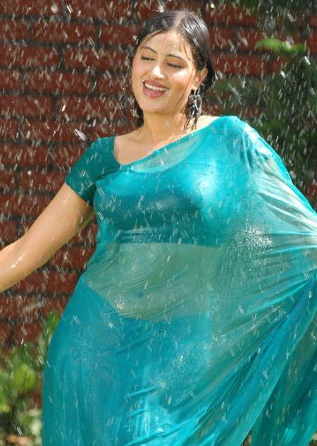 Aunty wet dress images