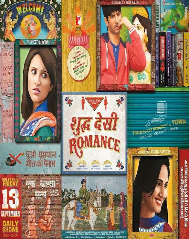 Poster Of Hindi Movie Shuddh Desi Romance (2013) Free Download Full New Hindi Movie Watch Online At Alldownloads4u.Com