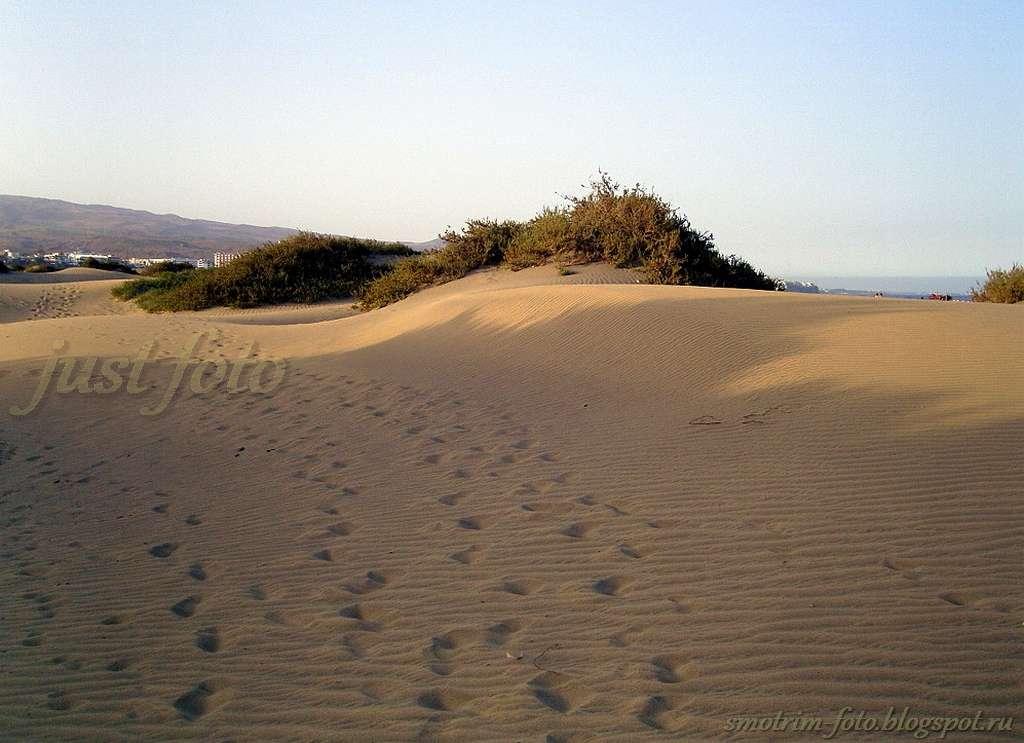 Песчаные дюны Гран Канария фото