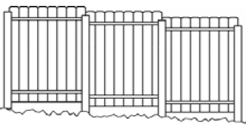 sloping fence panels