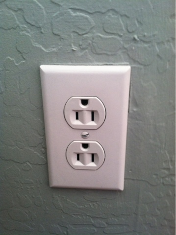 Cleaning Paint Off Wall Outlet