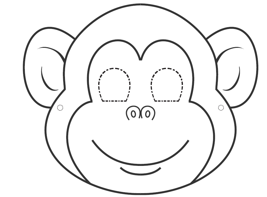 monkey face template for cake - i want to learn english colouring masks for carnival time