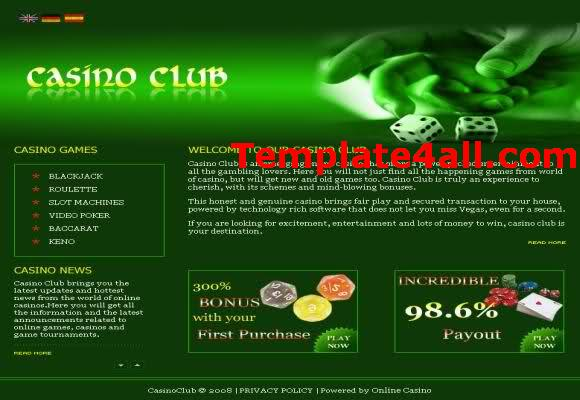 Casino Club Green CSS Template