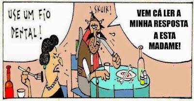 Madame manda porcalhão usar fio dental