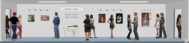 Sala de exposición virtual de pinturas de Carlos Casu