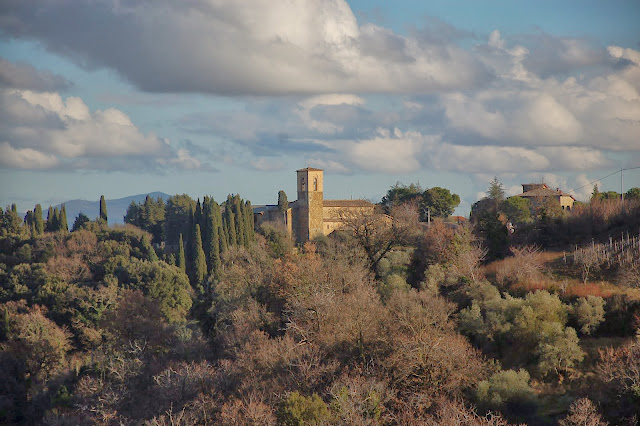 Chiesa dell'Osservanza seen from Montalcino